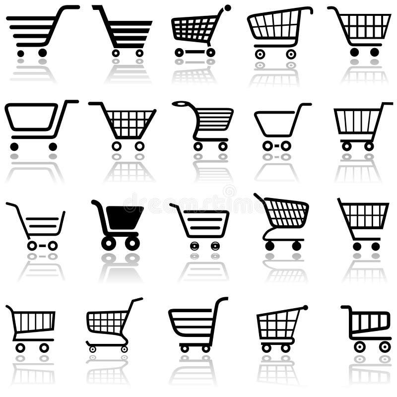 Wózek Na Zakupy Znak ilustracja wektor