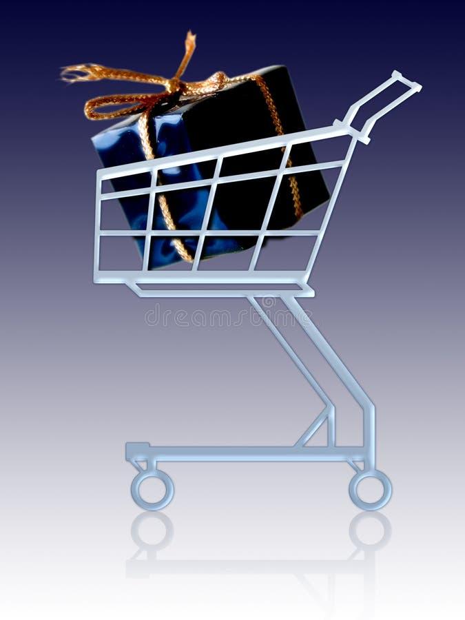 wózek prezent ilustracji