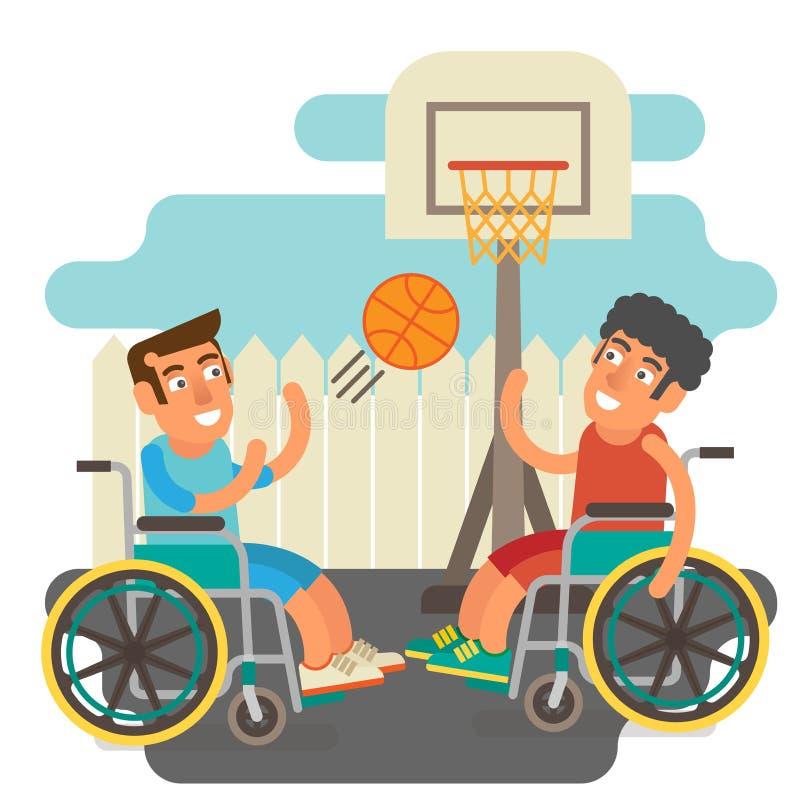 Wózków inwalidzkich sporty royalty ilustracja