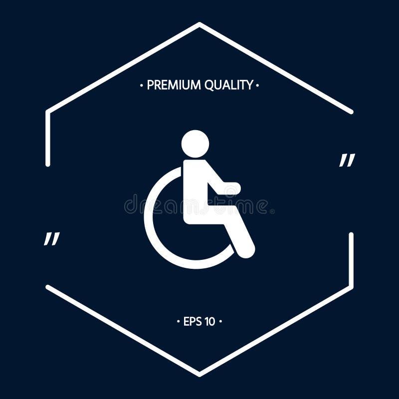 Wózka inwalidzkiego foru ikona royalty ilustracja