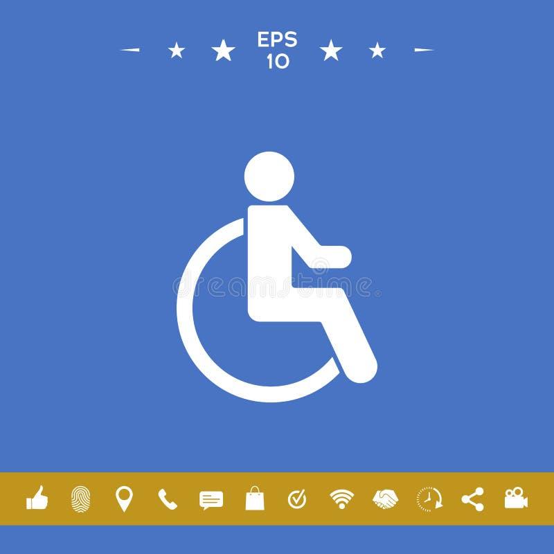 Wózka inwalidzkiego foru ikona ilustracji