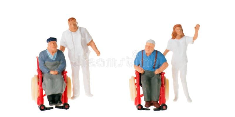 Wózka inwalidzkiego użytkownik obraz stock