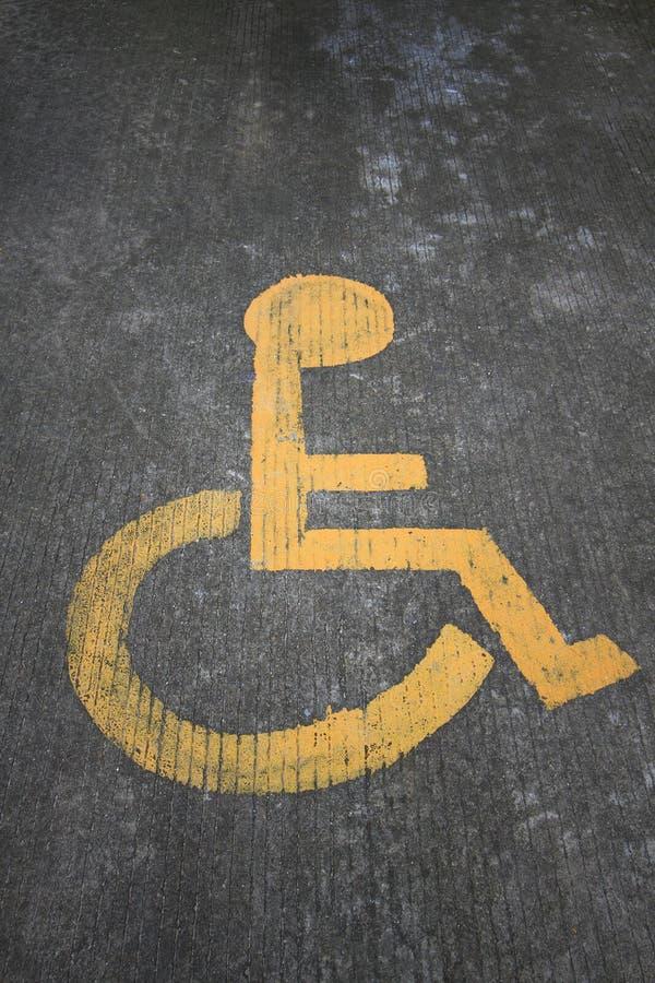 Wózka inwalidzkiego znak obrazy stock