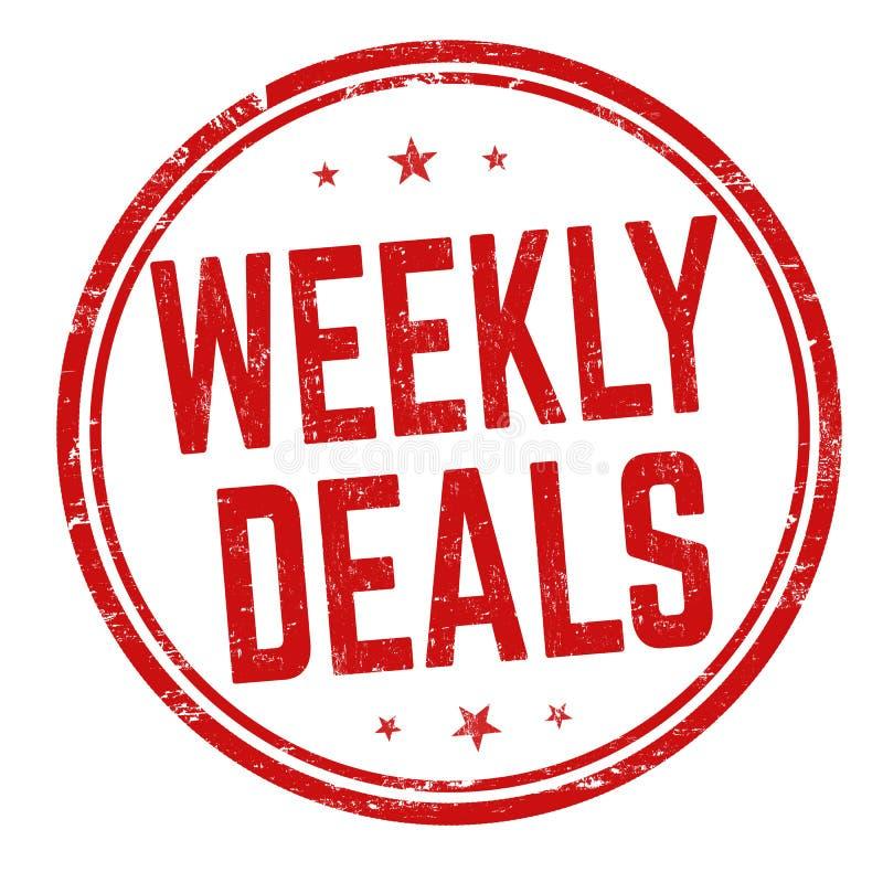 Wöchentliche Abkommen unterzeichnen oder stempeln stock abbildung