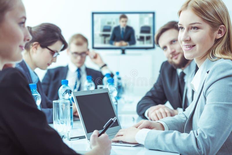 Wöchentliche Sitzung des Verwaltungsrates der Firma stockbild