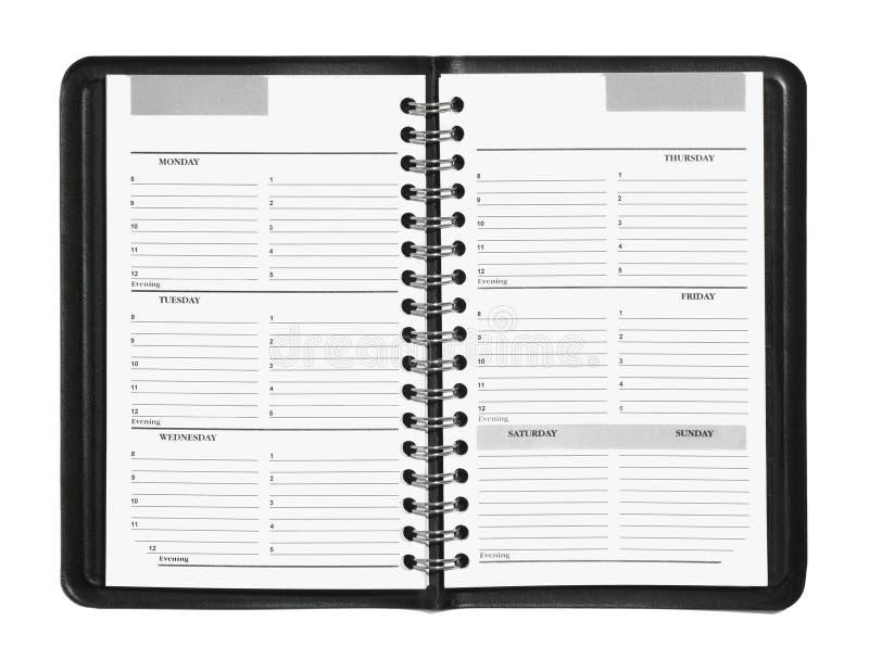 Wöchentlicher Planer lizenzfreie stockbilder