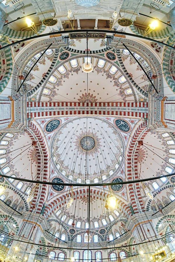Wölben Sie sich Malerei von Fatih Mosque in Istanbul, die Türkei stockbilder