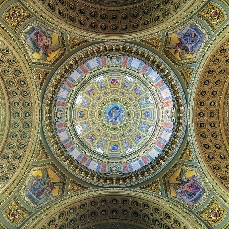 Wölben Sie sich Malerei von St- Stephen` s Basilika in Budapest, Ungarn stockfotografie