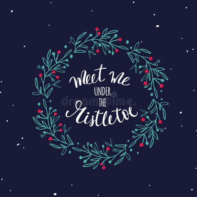 Wörter der frohen Weihnachten und des neuen Jahres Vektorbeschriftung vektor abbildung
