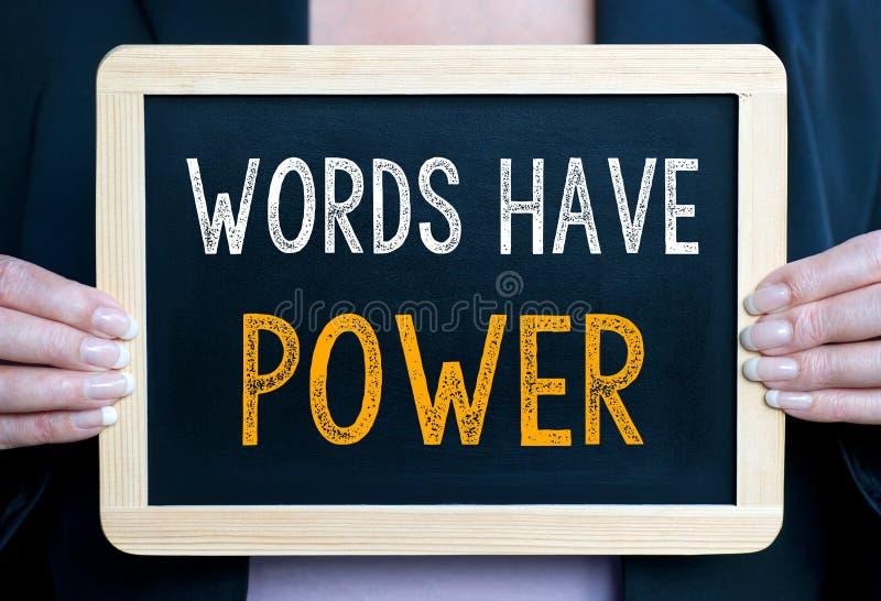 Wörter haben Energie lizenzfreies stockfoto