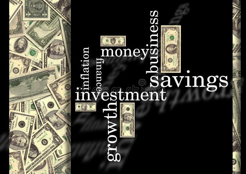 Wörter mit Geld vektor abbildung