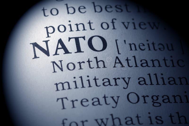 Wörterbuchdefinition von NATO stockbilder