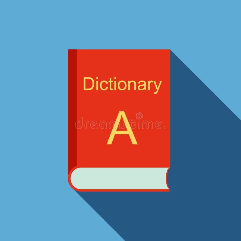 Wörterbuchikone, flache Art stock abbildung