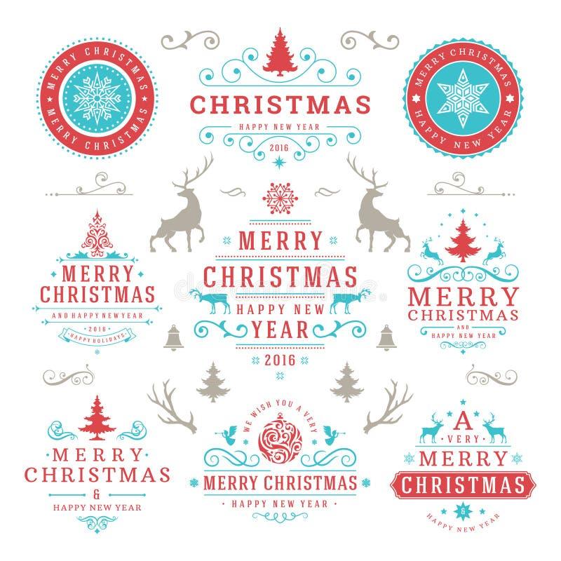 Wünsche der frohen Weihnachten und des glücklichen neuen Jahres vektor abbildung