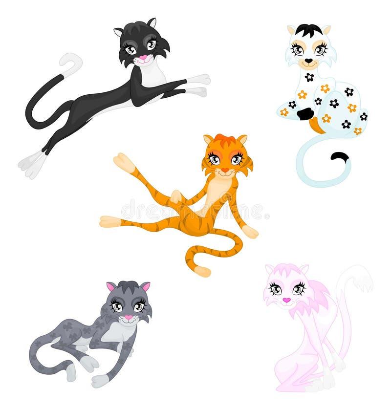Würdevolle Katzen stock abbildung