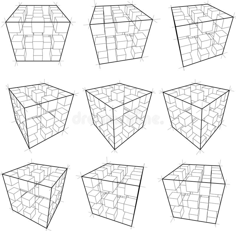 würfel vektor abbildung