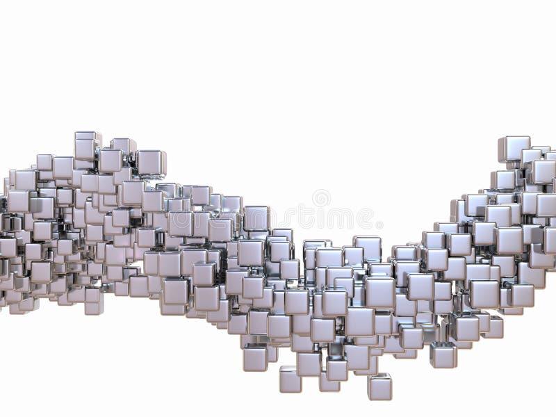 Würfel. Abstrakter digitaler Würfelhintergrund. 3d stock abbildung