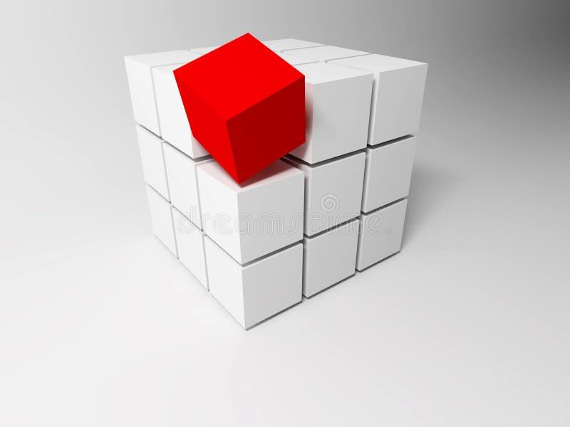 Würfel. Abstrakter Hintergrund vektor abbildung