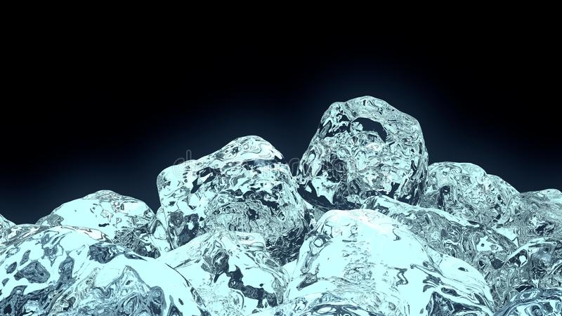 Würfel des Eises 3D stockbilder