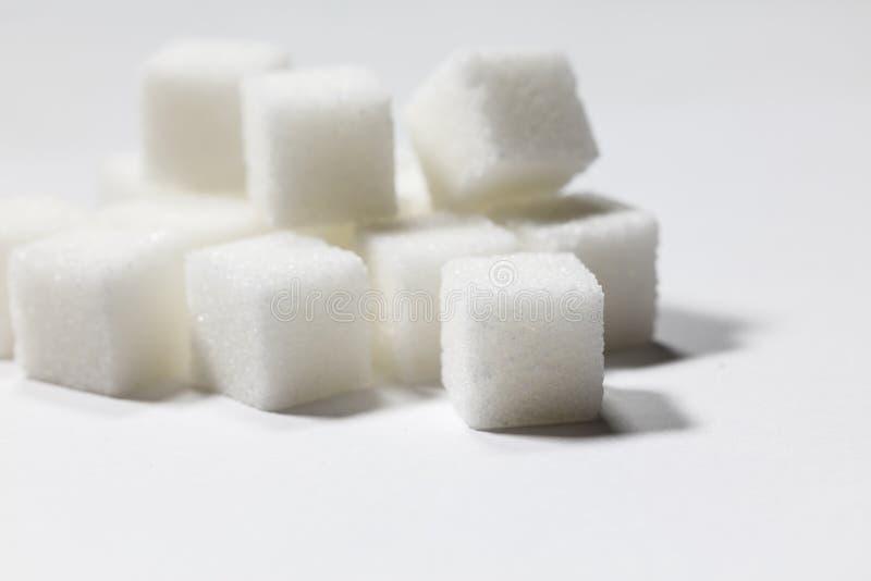 Würfel des raffinierten Zuckers lizenzfreie stockbilder