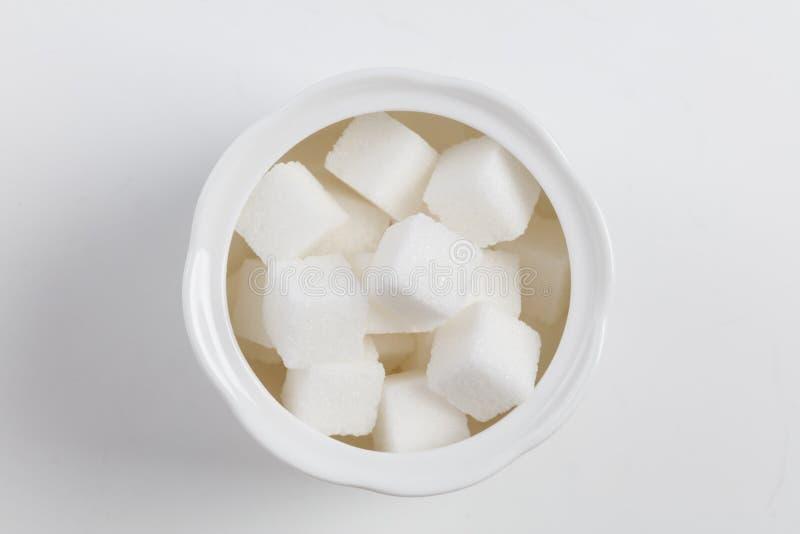 Würfel des raffinierten Zuckers lizenzfreie stockfotos