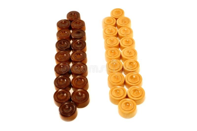 Würfel für Spiel in einem Backgammon stockfotos