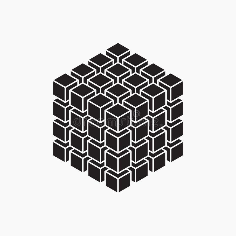 Würfel, geometrisches Element stock abbildung