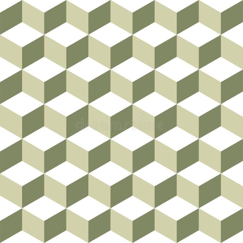 Würfel-Muster stock abbildung