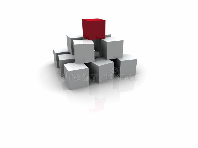 Würfel/Pyramide lizenzfreie abbildung