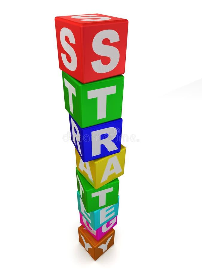 Würfel. Strategie stock abbildung