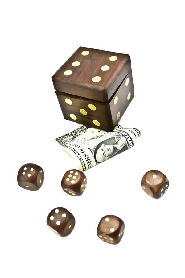 Würfel und Geld lizenzfreies stockfoto
