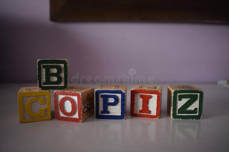 Würfel von Buchstaben lizenzfreies stockfoto