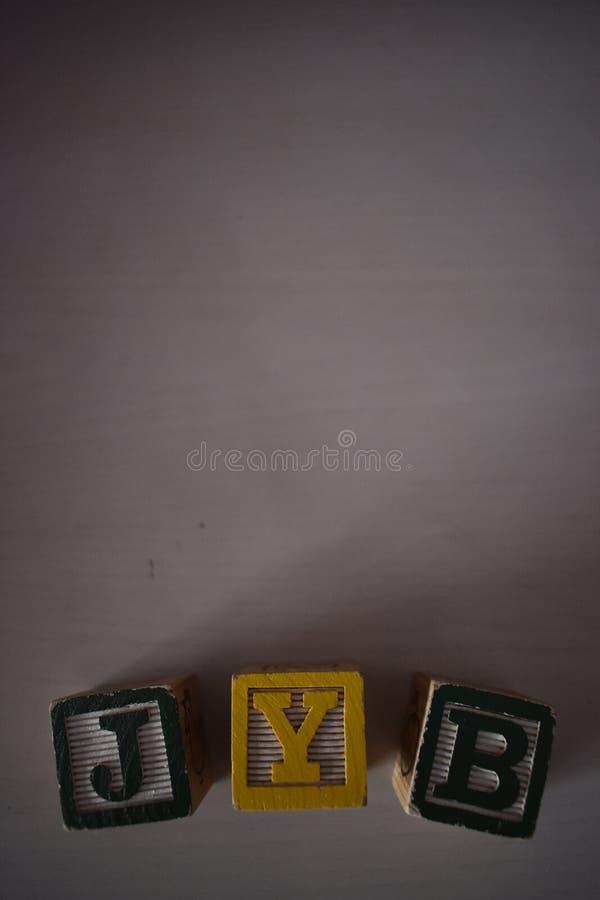 Würfel von Buchstaben lizenzfreie stockfotografie