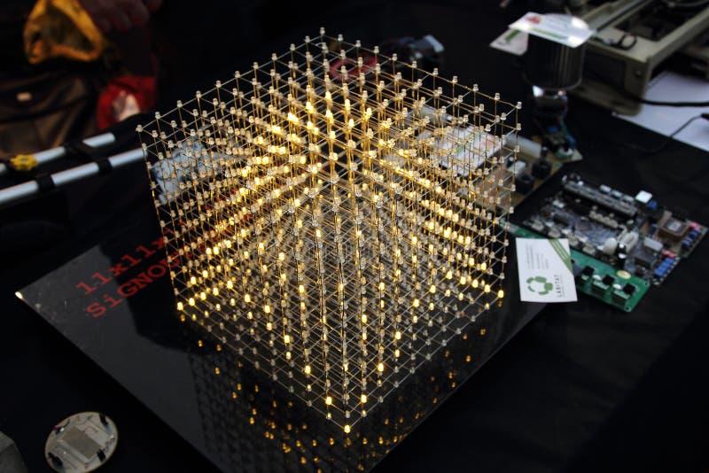 Würfel von LED stockfotografie