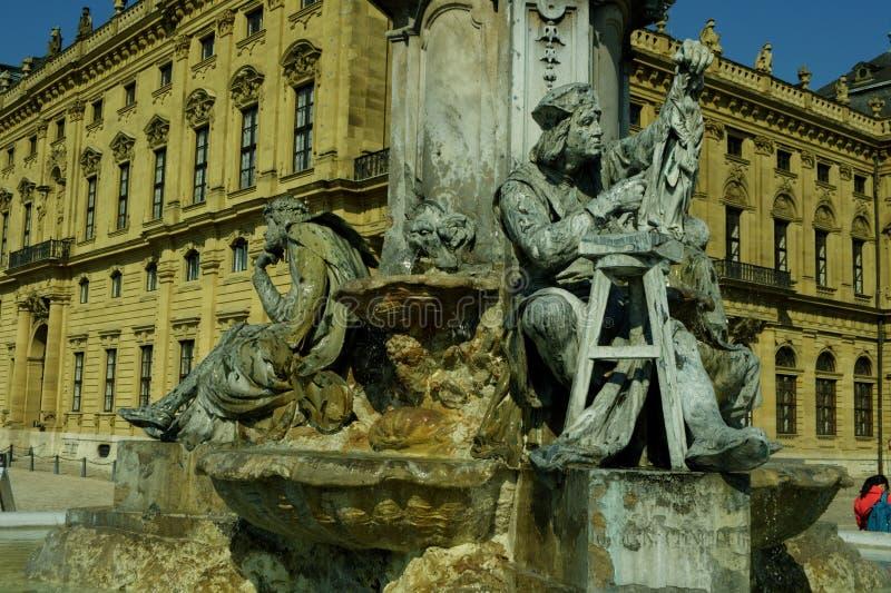 Download Würzburg, резиденция Германии - Würzburg и сад суда Стоковое Изображение - изображение насчитывающей музей, резиденция: 33730771