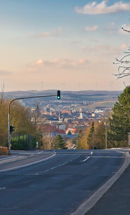 Würzburg Höhen und Tiefen-Hügel einer alte deutsche Stadt stockbild