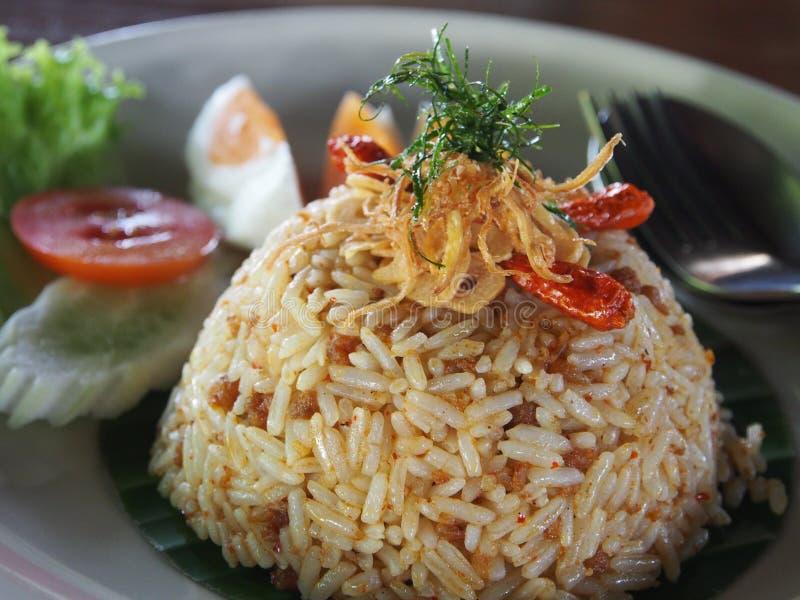Würziger gebratener Reis stockbilder