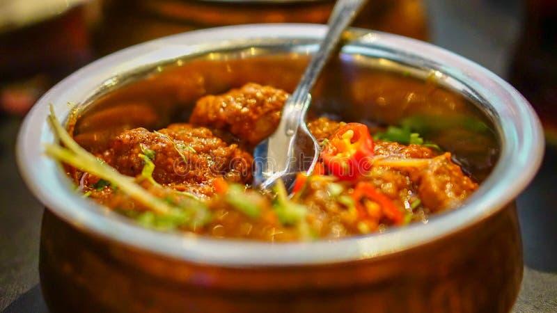 Würziger Lamm-Curry stockbilder
