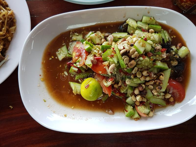 Würziger Salat der Gurke stockfotos