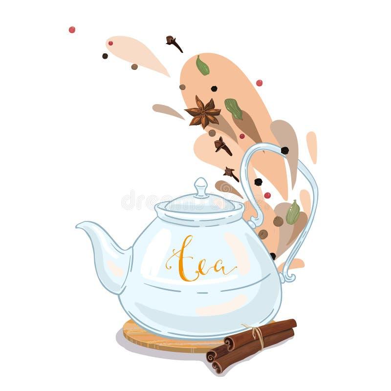 Würziger Tee stock abbildung