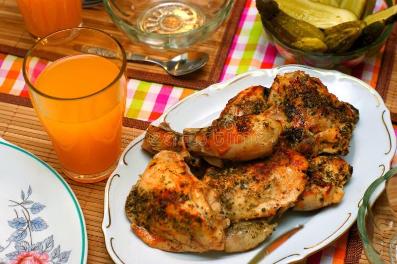 Würziges Huhn des Bratens lizenzfreies stockfoto