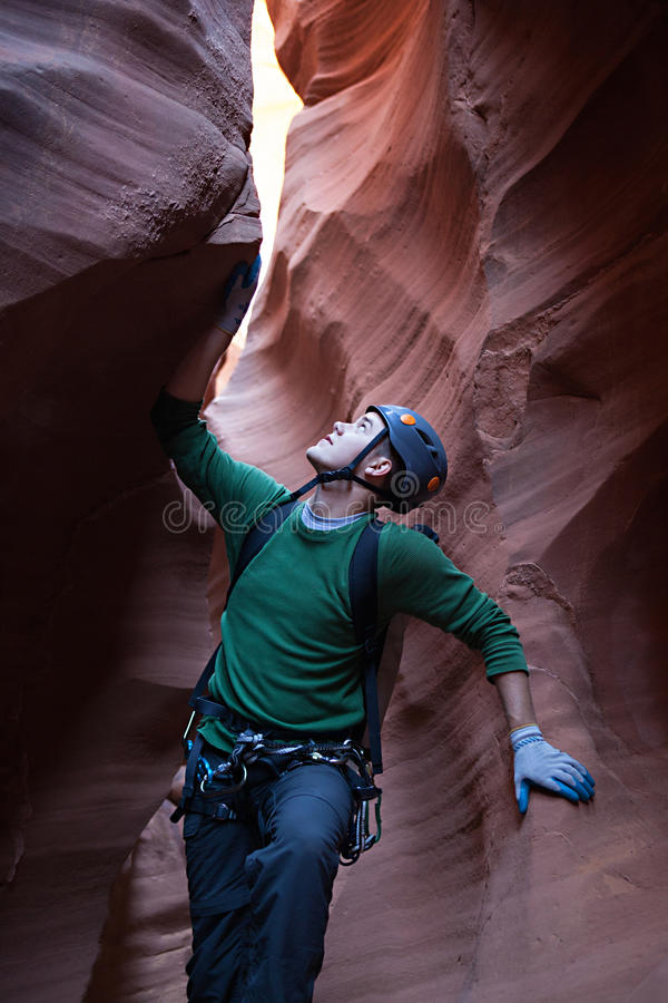 Wüste Canyoneering stockfotografie