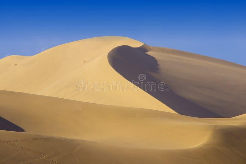 Wüste Gobi, Sanddünen stockbild