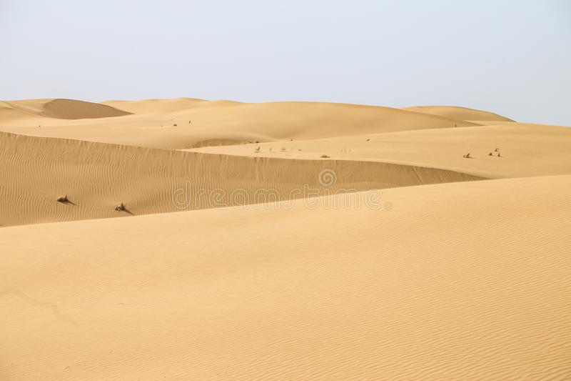 Wüste Innere Mongolei, China, Kubuqi-Wüste stockfoto