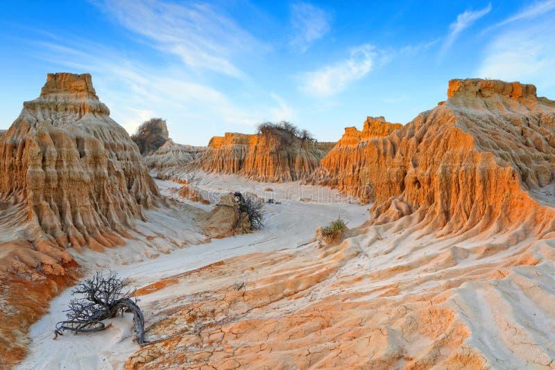 Wüste Lunettes im Hinterland NSW lizenzfreies stockbild