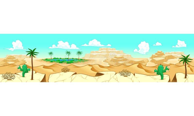 Wüste mit Oase vektor abbildung