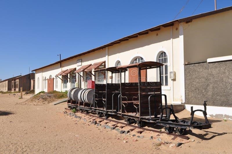 Wüste und Geisterstadt Kolmanskop lizenzfreie stockbilder