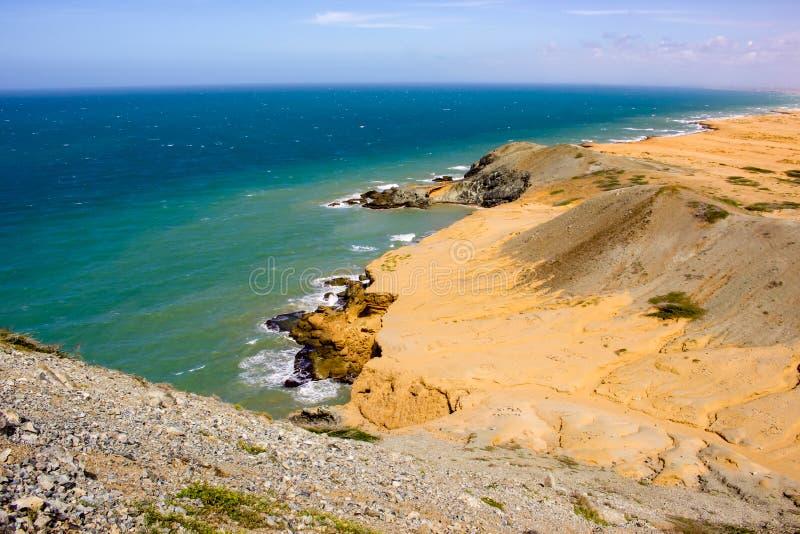 Wüste und Meer stockbilder