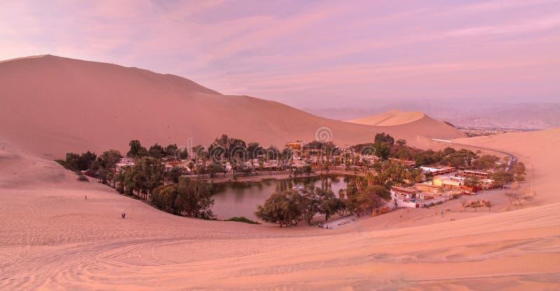 Wüste von Ica, Peru stockbilder