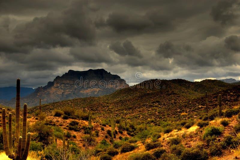 Wüsten-Berg 105 stockbild